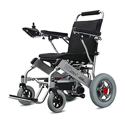Decoración de muebles Ancianos discapacitados Silla de ruedas eléctrica Seguridad Batería de litio (20A) Silla de ruedas eléctrica plegable y liviana 360 grados;Silla de ruedas plegable todo terre 🔥