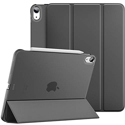 Dadanism iPad Air 4th Generation Case 2020 iPad 10.9 Case, Slim Smart Shell Protective Stand Cover with Translucent Frosted Back, Auto Wake/Sleep,Space GRAY