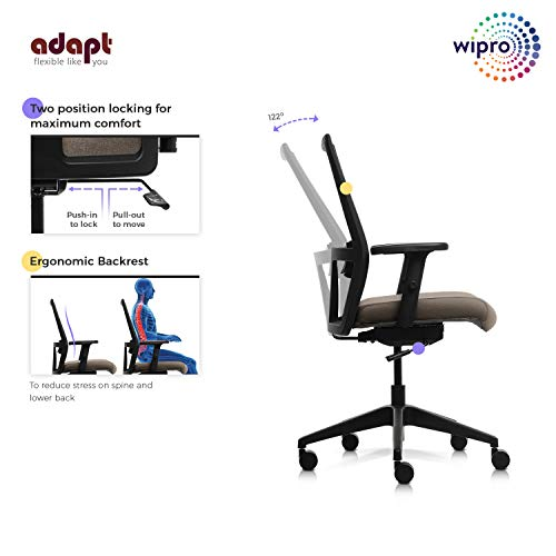 Wipro Medium Back Executive Ergonomic Office Chair