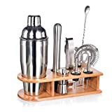 Best Bartender Kits - Bartender Kit with Stylish Bamboo Stand, 10 Piece Review