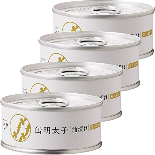 ふくや 缶明太子・油漬け 85g ×4個