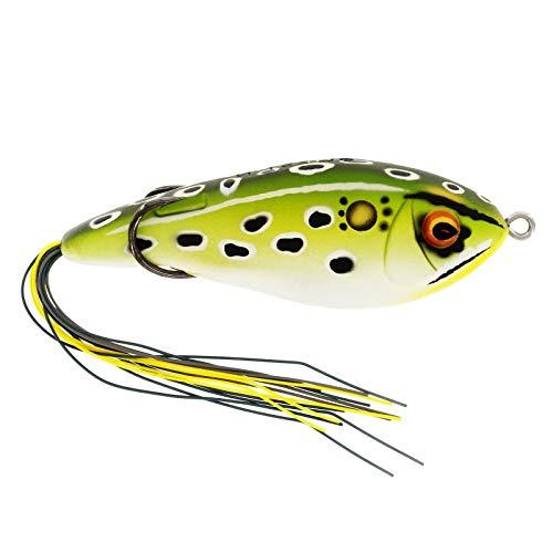 Westin Swim Hollowbody 9cm 17g - Topwater Gummiköder zum Spinnfischen auf Hechte & Barsche, Oberflächenköder zum Spinnangeln, Farbe:Green Frog