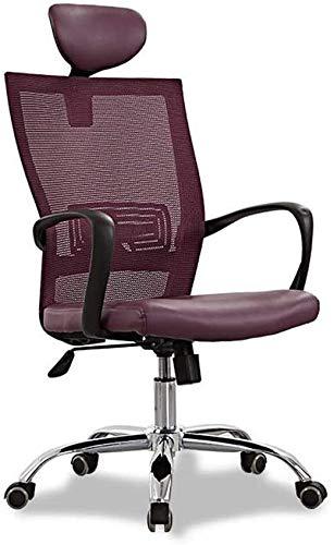 TGFVGHB Silla de oficina Silla de escritorio ergonómica Silla giratoria de tela de malla ajustable con reposabrazos y ruedas