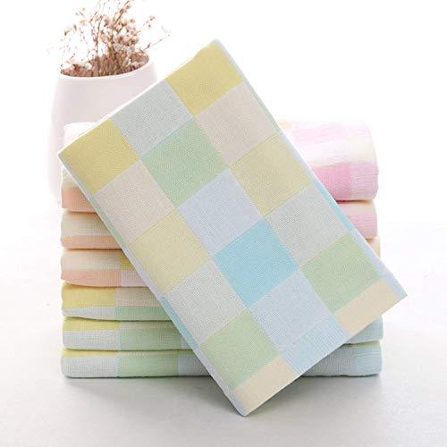 Aututer 2 Paquets de Serviettes de Toilette en Tissu à Double Couche de Coton, Serviettes universelles Douces et absorbantes