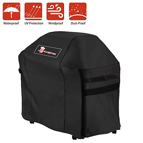 CHEFUN 7138 Grill Cover for Weber Spirit 200 and Spirit II 200 Series, Waterproof Heavy Duty Gas BBQ, Weather-Resistant Polyester