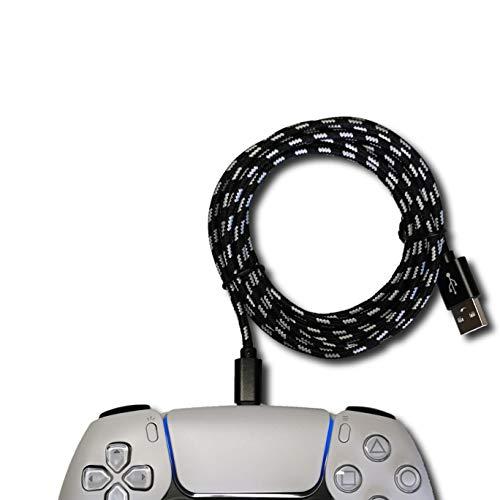 PS5 Controller Ladekabel 3M USB Type C Kabel für Playstation5 Dualsense5|XBox Series|Series X|Nintendo Switch Pro Controller| Gamepad|Smartphone Zubehör Nylon [Knickschutz]