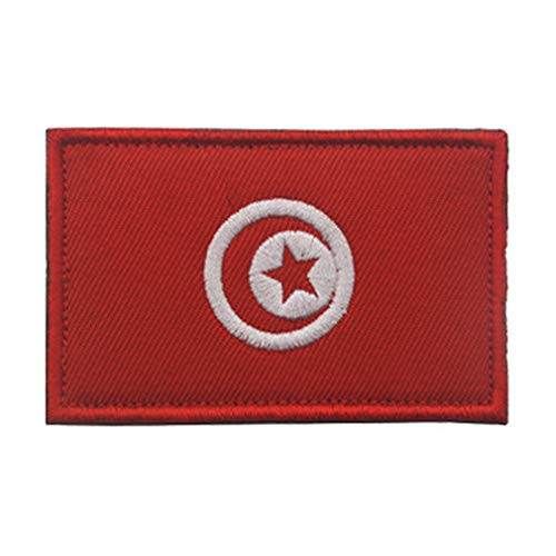 ShowPlus Aufnäher mit Tunesien-Flagge, Militär, bestickt, taktischer Aufnäher, Moral, Schulterapplikation