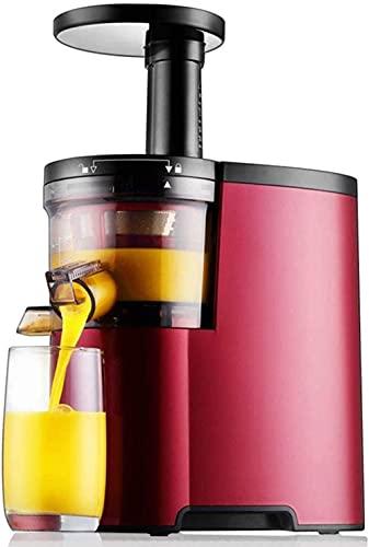 HYLK Extractor de exprimidor de masticación Lenta Máquina Profesional Extractor de Jugo de Naranja de Boca Grande con silencioso para Jugo de nutrientes de Motor de Frutas inverso Alto y Libre co