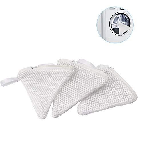 Haelsty 洗濯洗剤ネット 粉石鹸ネット 粉せっけん ネット 洗濯ネット 小 溶け残りが衣類につかない 除菌 マグネシウム ネット 3個セット(トライアングル/ホワイト)
