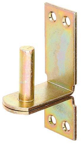 GAH-Alberts 311469 Kloben auf Platte, DII-Haken, galvanisch gelb verzinkt, Ø16 mm, 113 x 40 mm / 1 Stück