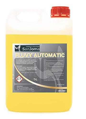 FLUVY AUTOMATIC Detergente de lavavajillas para uso profesional (Garrafa 5L). Alto poder de limpieza de vajilla.