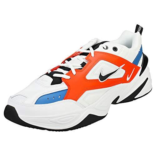 Nike Herren M2K TEKNO Laufschuhe, Mehrfarbig (Summit White/Black/Team Orange 100), 45 EU