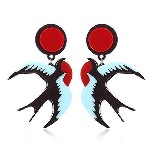 niumanery akryl fågel droppe anvisning örhängen frihet skava kostym smycken