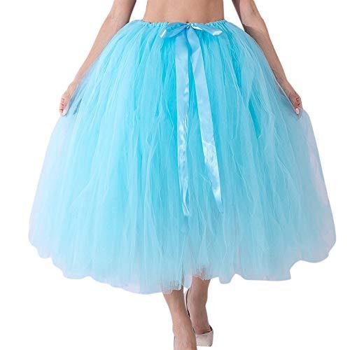 Kapian Damen Vintage Petticoat Reifröcke Tüll Unterröcke für Rockabilly Kleid Faltenrock...