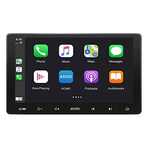 ATOTO F7 Double Din Car Stereo Android Auto & CarPlay 10.1 Inch Touchscreen in-Dash Navigation with Bluetooth, Mirror Link, HD Rearview Input, Quick Charge, USB/SD(Up to 2TB) F7G211SE