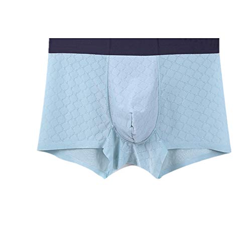 Nobrand Herren Unterwäsche Sommer Mid-Taille Boxershorts atmungsaktiv und bequem Gr. X-Large, blau