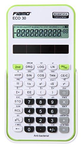 Fiamo wetenschappelijke rekenmachine ECO30, 138 functies en 10-cijferig display, wit/groen