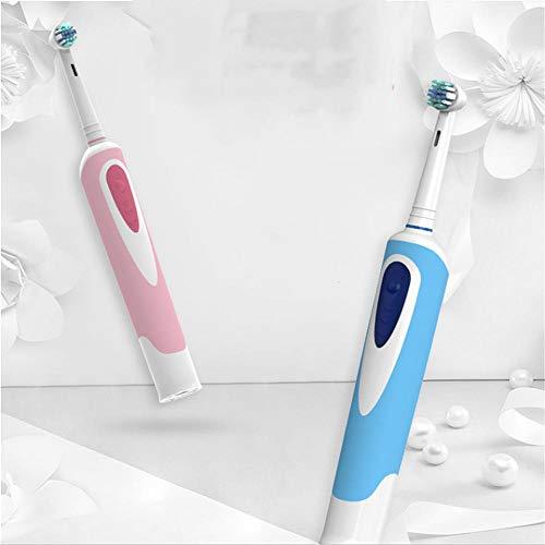 Schnurlose elektrische Rotationszahnbürste Wasserdichte Schall-Haushaltszahnbürste für weiches Haar@Pink