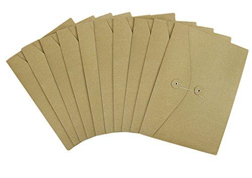 Aktenhülle A4 Sammlemappe 10 Stück pro Verpackung Prospekthüllen aus Kraftpapier Dokumentenmappe Datei Tasche Organizer für Büro und Schule