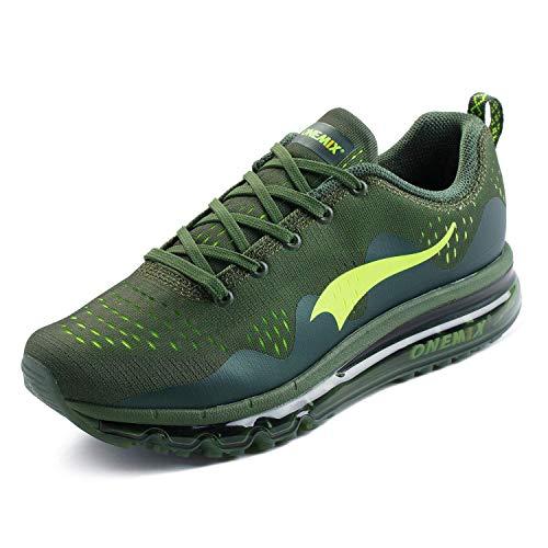 ONEMIX Herren Laufschuhe Straßenlaufschuhe Sneaker mit Luftpolster Turnschuhe Komfortabel Sportschuhe 1223 39EU