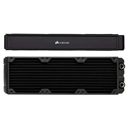 Corsair Hydro X Series XR7 radiator (360 mm, tre 120 mm fläktfästen, enkel installation, kopparkonstruktion, högklassig polyuretanbeläggning, integrerade skruvstyrningar) svart