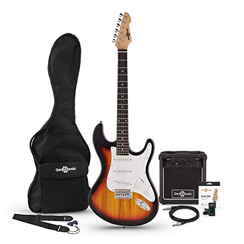 Guitarra Eléctrica LA + Pack de Ampli de 15W - Sunburst