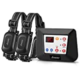 Aweec Wireless Dog Fence System for 2 Dogs,2021 Upgraded 2-in-1...