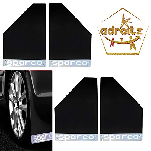 Adroitz AD-MUD-FLAP-BLK-ST4-GYPSY Sparco Racing Style Rubberized...