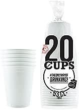 R/éutilisable Orange Nouvel an Lavable Original Cup No/ël Bi/ère Pong Officiels 20 x Gobelets Am/éricains 53cl pour Beer Pong Soir/ée American Red Cups Jeux /à Boire Plastique