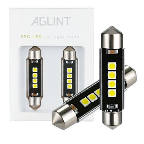 AGLINT 42mm C5W LED CANBUS Bombillas LED Coche 3030 4SMD 6000K Xenon Blanco Luz LED Bombillas De Repuesto Para Mapa Cúpula De La Matrícula Festón Luces Lámparas …