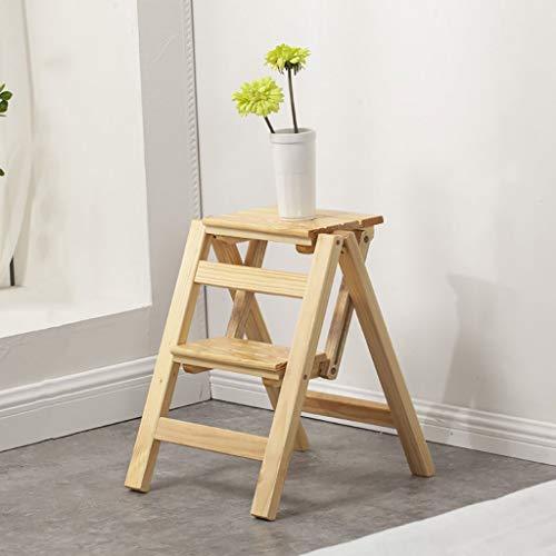 2-Step massief hout stap kruk vouwen ladder krukken-bloem stand plank multifunctionele binnen huishouding Ascend ladder kleine ladder ladder jghjgfhfdgfdg / 2#