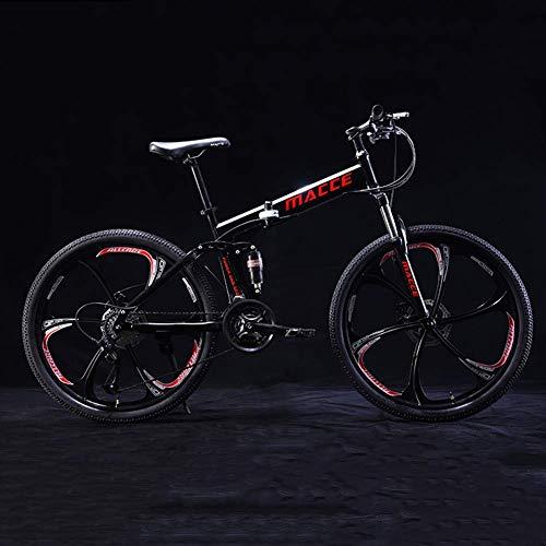 ASDF Bicicleta para niños - Bicicleta Plegable de 24 Pulgadas, Bicicleta de montaña para niños y jóvenes, Marco de Acero de 21 velocidades Bicicleta Plegable para niños MTB, Niños niñas Bicicleta