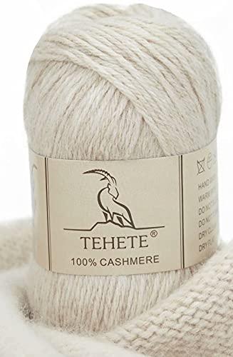 TEHETE 100% Kaschmir Wolle luxuriös weich leichtgewicht häkeln und stricken Garn - 003