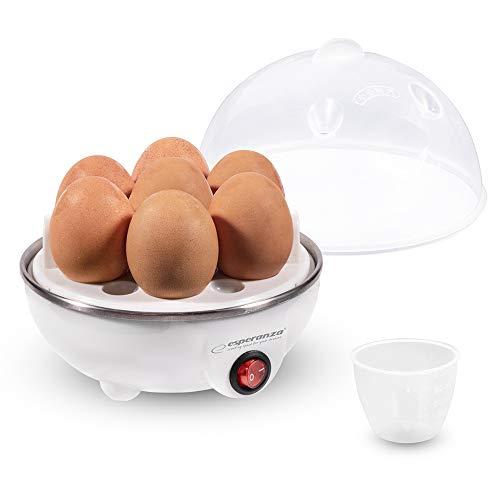 Esperanza Eierkocher für 1 bis 7 Eier mit Einsatz Messbecher Stechhilfe auto. Abschaltung