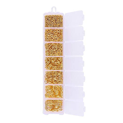 PJ1 Joyería haciendo kit de oro / plata anillo de salto langosta cierre cadena de claxones de vidrio conjuntos de semillas de vidrio conjunto para bricolaje abalorios pulsera collar pendientes Tl0419
