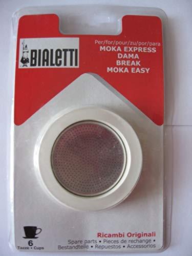 Bialetti Dichtung und Filter für Kaffeemaschine Moka DAMA 6Tassen