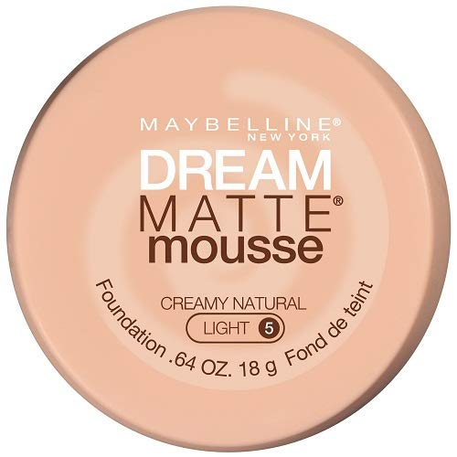 Maybelline New York Dream Matte Mousse Foundation, Creamy Natural, 0.64 Fl Oz (Pack of 1)