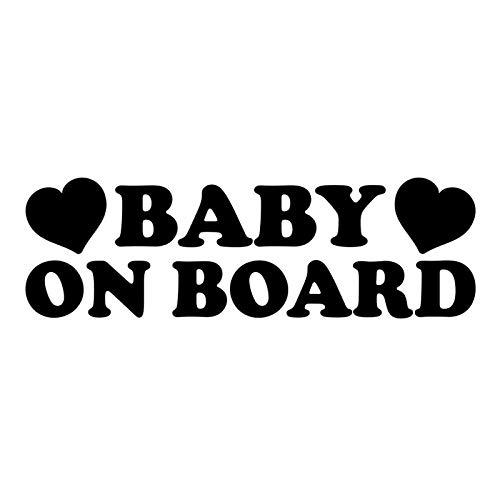 JKGHK Pegatina de vinilo para bebé a bordo en el coche, 14, 9 cm x 4, 6 cm, color negro