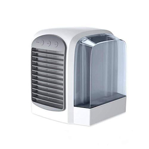 SLRMKK Refroidisseur d'air, Refroidisseur d'air Portable 3 en 1, Humidificateur, Purificateur, Climatiseur Mobile, 3 vitesses de Vent Tank Réservoir d'eau Amovible de 350 ml