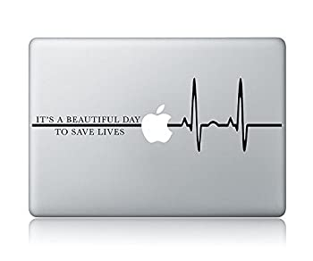 HVD-It s A Beautiful Day to Save Lives Grey s Anatomy Laptop Apple MacBook Vinyl Decal Sticker Apple Mac Air Pro Laptop Sticker