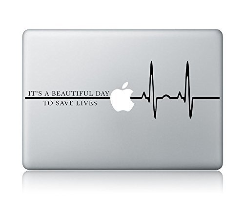 HVD-It's A Beautiful Day to Save Lives Grey's Anatomy Laptop Apple MacBook Vinyl Decal Sticker Apple Mac Air Pro Laptop Sticker