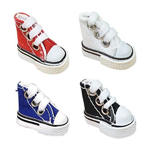 cypressen 3,5 cm mini-vingerschoenen, dansschoenen, vingerskateboard, canvas, schoenen voor vingers, breakdance toetsen, 4 stuks
