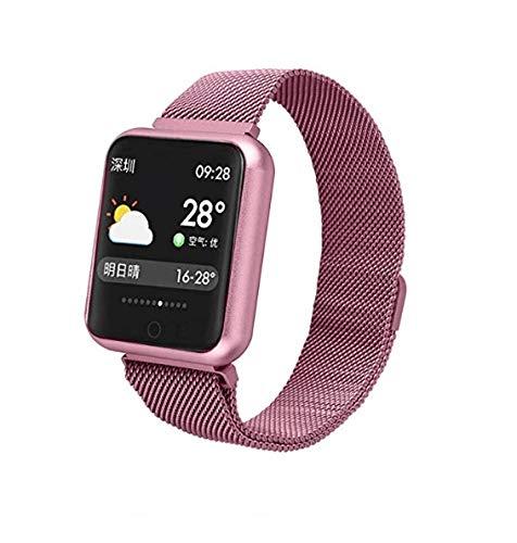 Smartwatch Relógio P68 Fitness Resistente Chuva Pressão Arterial (Rosé)