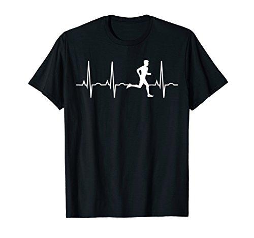 Running Shirt for Men - Runners Heartbeat Gift T-Shirt
