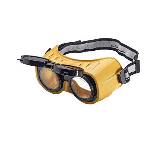 schweisser-king.de: Schutzbrille klappbar Vorhänger DIN 5 mit Kopfband und Seitenschutz geeignet für Brillenträger, Schweißschutzbrille