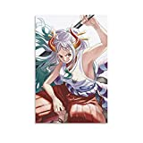 Anime One Piece Wano Country Arc Yamato Samurai Pirate Swordsman Domineering Lady Sexy Temptation Cute Girl Loli Posters Aesthetics Home Office Wall Decor and Creative Painting Decoration 08×12inch(20