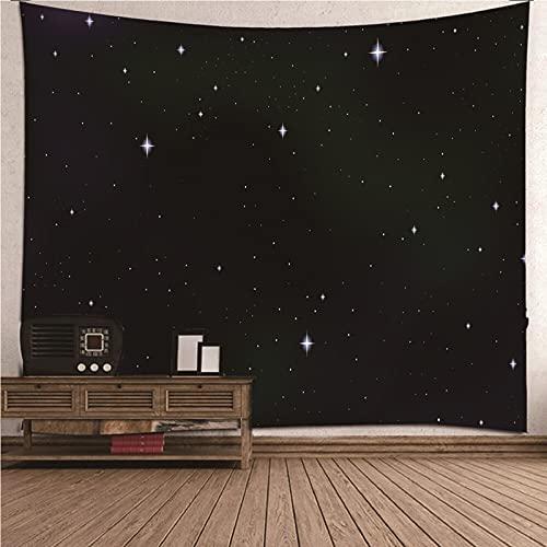 KnBoB Tapiz Pared Decorativo Cielo Estrellado Noche Oscura 300x260 CM Tejido Poliester Anti Arruga Decoracion Habitacion