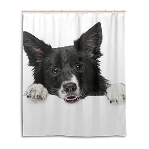 JSTEL Rideau de Douche décoratif 100% Polyester Motif Chien 152 x 183 cm