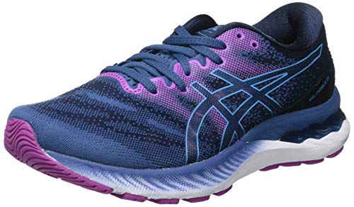 ASICS Women's Gel-Nimbus 23 Road Running Shoe, Grand Shark/Digital Aqua, 6 UK