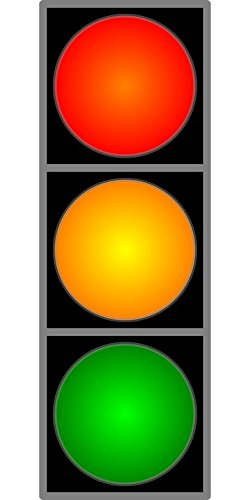 Laminated 24x48 inches Poster: Traffic Light Red Yellow Green Lamp Light Road Safety Sign Signal Traffic
